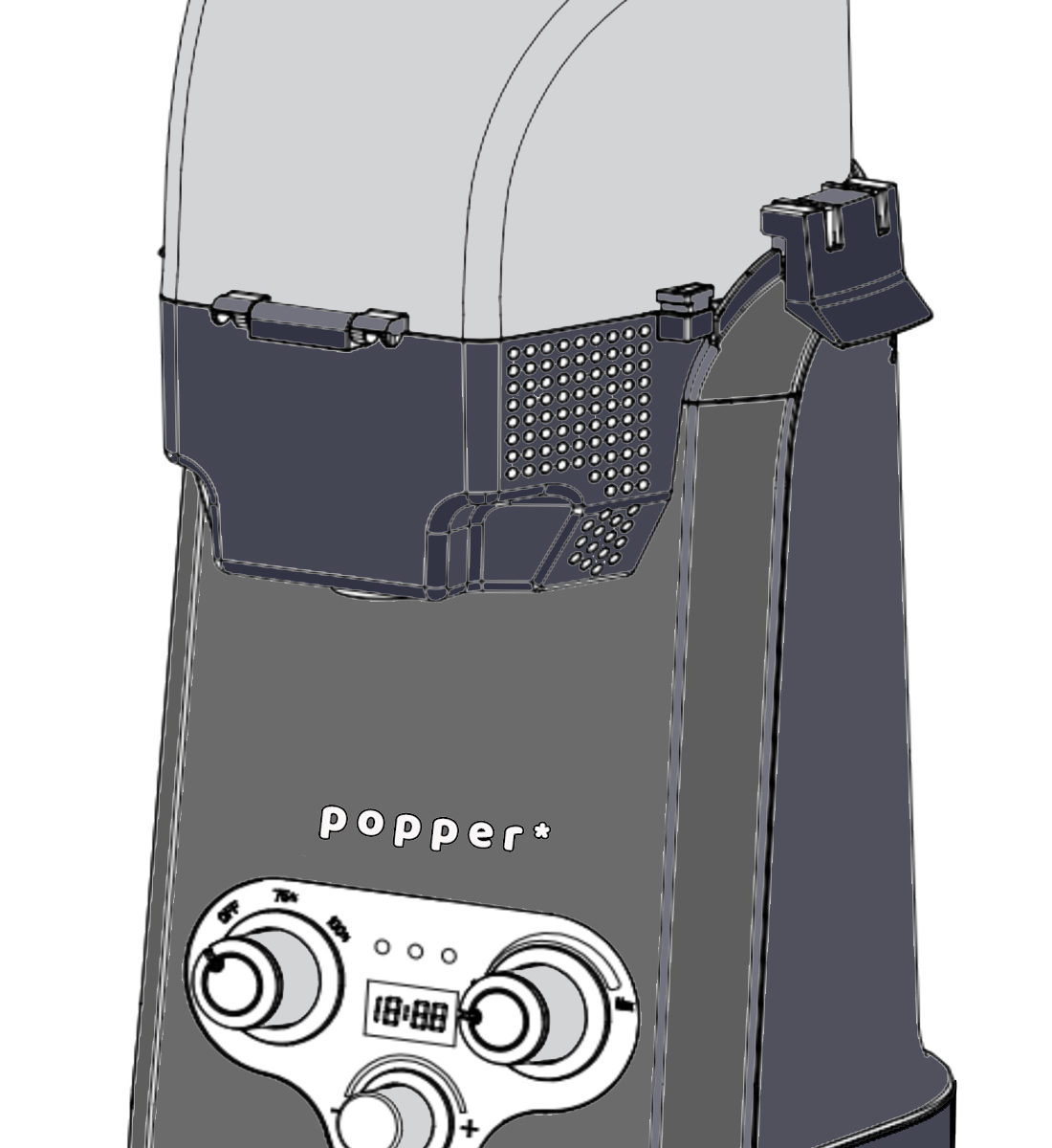 popper coffee roaster line art