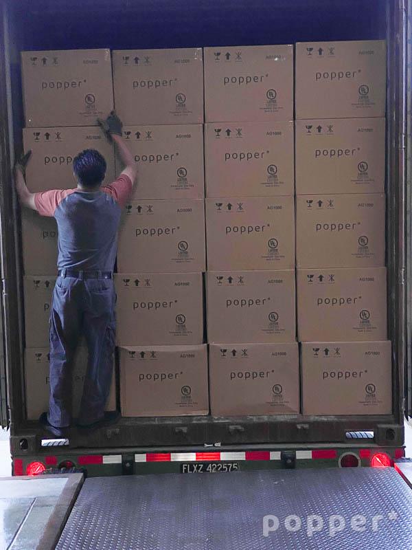 First shipment - Popper coffee roaster