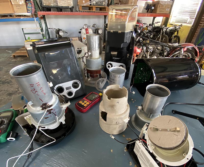 deconstructed popper coffee roasters